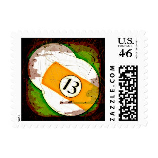 BILLIARDS BALL NUMBER 13 STAMPS