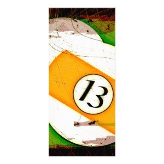 BILLIARDS BALL NUMBER 13 RACK CARD