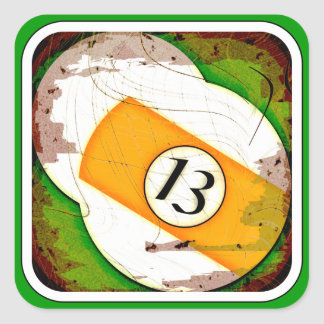 BILLIARDS BALL NUMBER 13 STICKERS