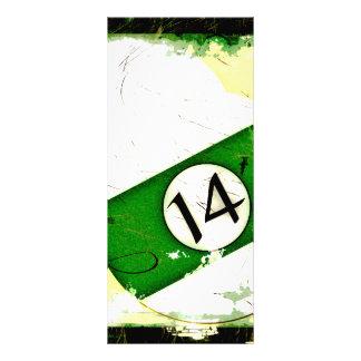 BILLIARDS BALL NUMBER 14 RACK CARD DESIGN
