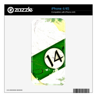 BILLIARDS BALL NUMBER 14 SKIN FOR iPhone 4