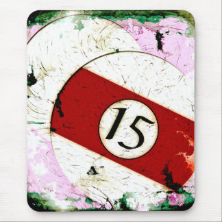BILLIARDS BALL NUMBER 15 MOUSE PAD