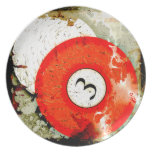 BILLIARDS BALL NUMBER 3 PARTY PLATES