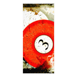 BILLIARDS BALL NUMBER 3 RACK CARD