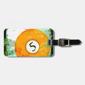 BILLIARDS BALL NUMBER 5 TAG FOR LUGGAGE