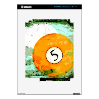BILLIARDS BALL NUMBER 5 SKIN FOR iPad 3