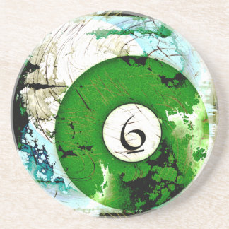 BILLIARDS BALL NUMBER 6 COASTER