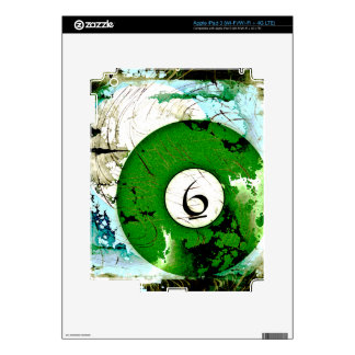 BILLIARDS BALL NUMBER 6 SKIN FOR iPad 3