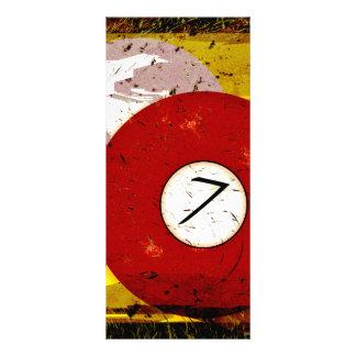 BILLIARDS BALL NUMBER 7 RACK CARD