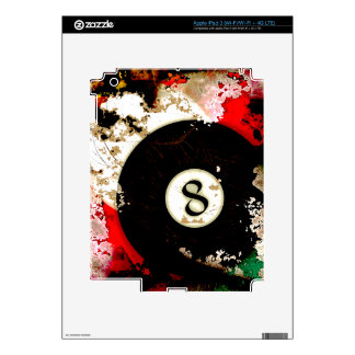 BILLIARDS BALL NUMBER 8 DECAL FOR iPad 3