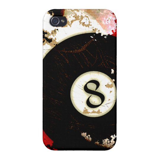 BILLIARDS BALL NUMBER 8 iPhone 4/4S COVER