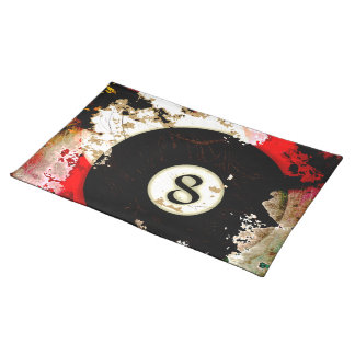 BILLIARDS BALL NUMBER 8 PLACEMAT