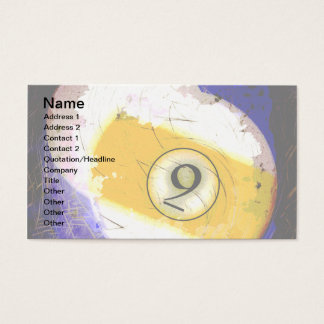 BILLIARDS BALL NUMBER 9 BUSINESS CARD