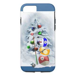 Billiards Ball Snowman Christmas iPhone 8/7 Case