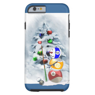 Billiards Ball Snowman Christmas Tough iPhone 6 Case