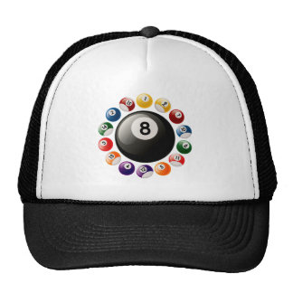 BILLIARDS BALLS TRUCKER HAT