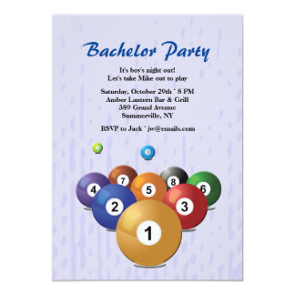 Billiards Balls Invitation