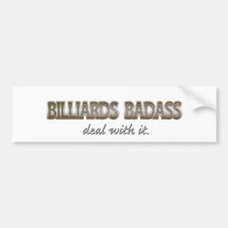 BILLIARDS CAR BUMPER STICKER
