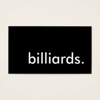 billiards. business card