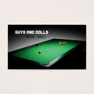 Billiards Business Cards