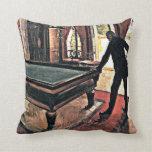 Billiards - Caillebotte, 1876 artwork Pillows