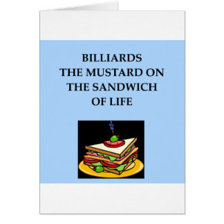 BILLIARDS GREETING CARD