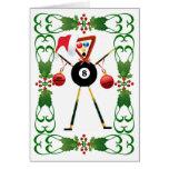 Billiards Cartoon Christmas Cards