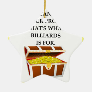 BILLIARDS CERAMIC ORNAMENT