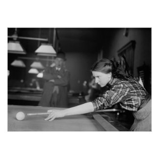 Billiards Champ Martha Clearwater, 1910s Poster