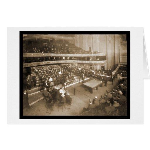 Billiards Chicago IL Photo 1906 Card