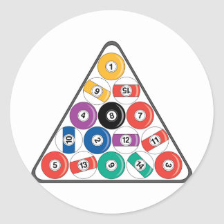 Billiards Classic Round Sticker