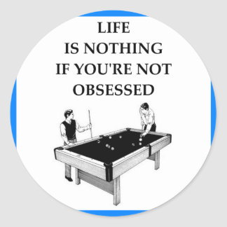 BILLIARDS CLASSIC ROUND STICKER
