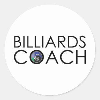 Billiards Coach Classic Round Sticker