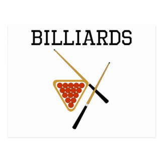 Billiards Cues And Triangle Postcard