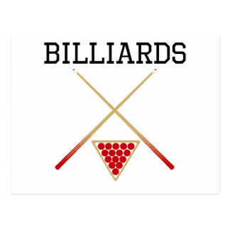 Billiards Cues And Triangle Post Card