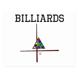 Billiards Cues And Triangle Post Cards