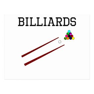 Billiards Cues Postcard