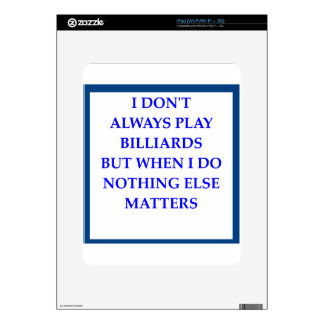 BILLIARDS DECALS FOR THE iPad