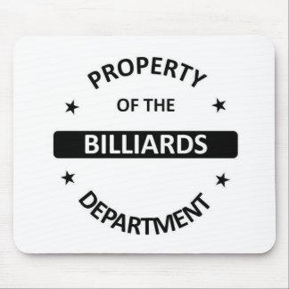 Billiards Department Mouse Pad
