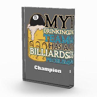 Billiards Drinking Team Award
