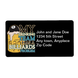 Billiards Drinking Team Label