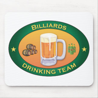 Billiards Drinking Team Mouse Pad
