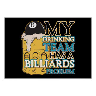 Billiards Drinking Team Poster