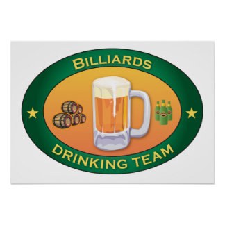 Billiards Drinking Team Poster