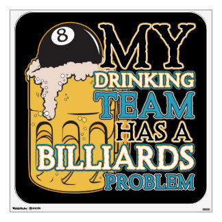 Billiards Drinking Team Wall Sticker