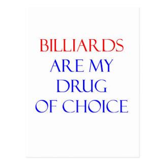 Billiards Drug of Choice Postcard