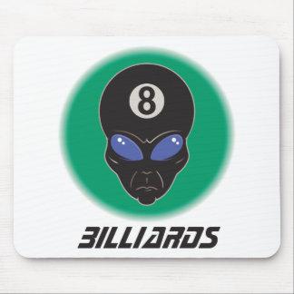 Billiards Eight Ball Alien Mouse Pad