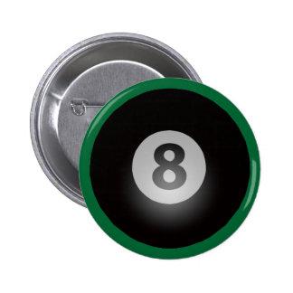 Billiards Eight Ball 2 Inch Round Button