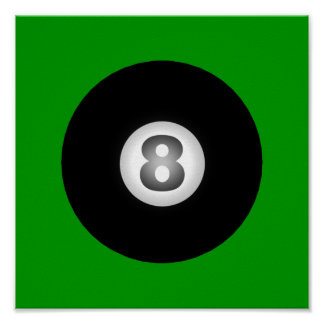 Billiards Eight Ball by SRF Poster