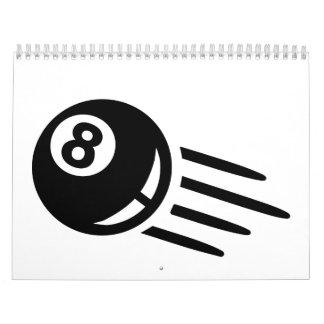 Billiards eight ball calendar